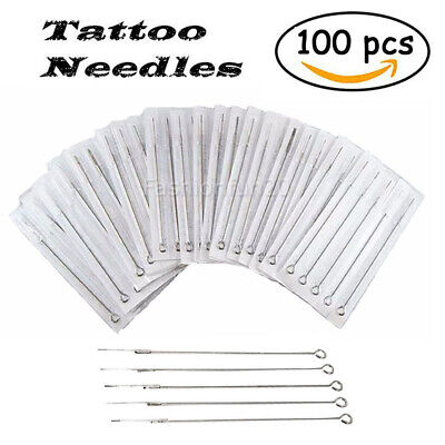Sterile Tattoo Needles Kit Steel Round Liner Shader Varied Sizes Supplies OZ