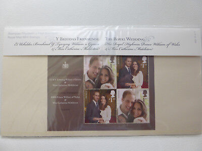 "2011 ""THE ROYAL WEDDING"" PRESENTATION PACK No. M20+ INFORMATIVE INSERT ~ MINT"