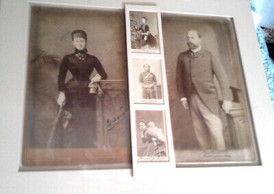 1883 Autographed Extra Large Cab - Photos Edward VII & Alex - 7 1/2 x 13 inches