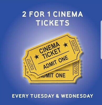 2 for 1 Cinema Ticket code for 21/22 may - Meerkat Movies - INSTANT delivery