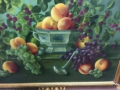 APair of Signed Swedish Still Life Oil Paintings