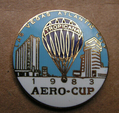 Hot Air Balloon Pin  - Special Shape Las Vegas Atlantic City  1983 Aero-Cup