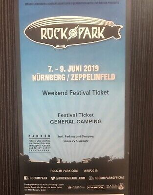 ROCK IM PARK 2019 - 3 Tage Festival Ticket incl. General Camping 07.-09.06.2019