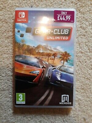 Gear Club Unlimited Nintendo Switch Game Great Condition Car Racing UK PAL £0.99