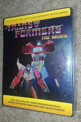 Transformers The Movie - Steelbook Limited (Bluray, 1986) w/ Protective Sleeve