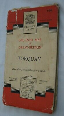Ordance Survey One-inch Map Torquay Sheet 188