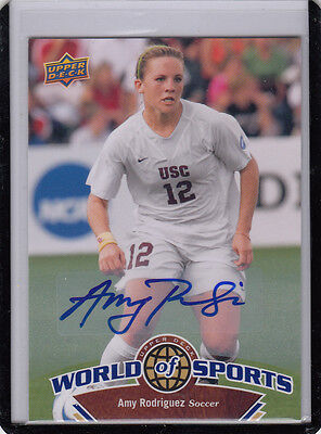 "2010 UD World Of Sport #115 Amy Rodriguez Calcio USA "" Auto Autografo *"