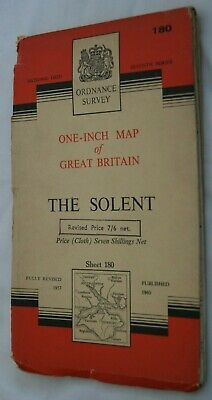 Ordance Survey One-Inch Map of Great Britain The Solent Sheet 180