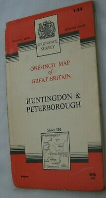 Ordance Survey One-Inch Map of Great Britain Huntington & Peterborough Sheet 134