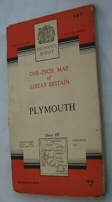Ordance Survey One-Inch Map of Great Britain. Plymouth. Sheet 187