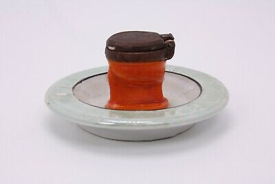 Toilet Potty Ashtray Antique Vtg Porcelain Ceramic Japan Novelty Gag 60s
