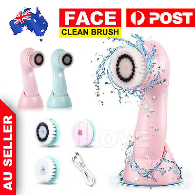 3in1 Electric Skin Care Cleansing Brush Face Cleaner Facial Cleanser Waterproof