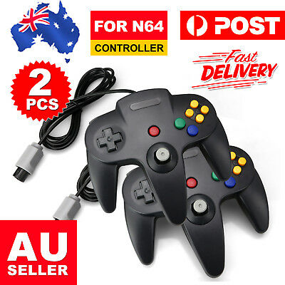 2x New Games Classic Gamepad Controller For Nintendo 64 N64 System Console AU