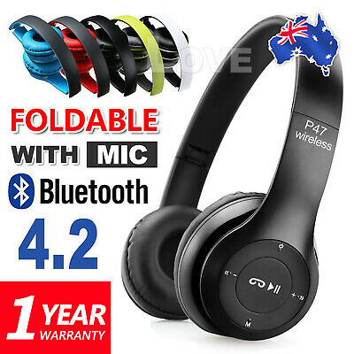 P47 Noise Cancelling Wireless Headphones Bluetooth 4.2 earphone headset with Mic