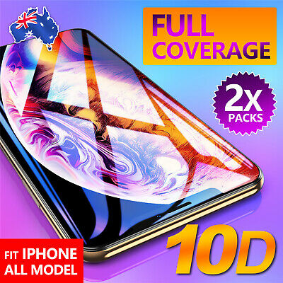 For Apple iPhone XSMax XR 10D Tempered Glass Screen Protector Real Full Coverage