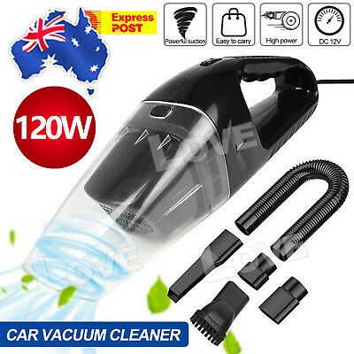 120W Auto Car Vacuum Cleaner with 12V Portable Bagless Handheld Dirt Dust Clean