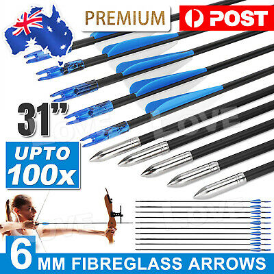 "32"" HEAVY DUTY FIBERGLASS/ALUMINUM ARROWS FOR Archery Hunting Compound Bow HOT"