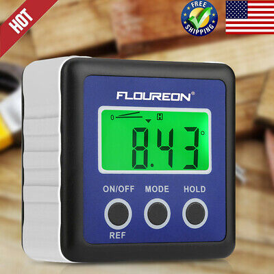 Digital LCD Inclinometer Level Protractor Angle Finder Gauge BevelBox Waterproof