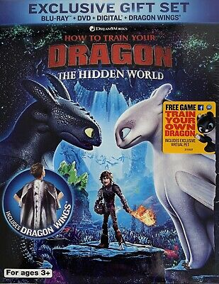 HOW TO TRAIN YOUR DRAGON ~ THE HIDDEN WORLD ~ Blu-Ray + DVD + Digital <GIFT SET>