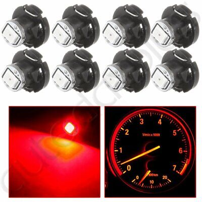 10x T4.2 Neo Wedge 2835 LED Red Dash HVAC Climate Control Bulb Light Lamp 10mm