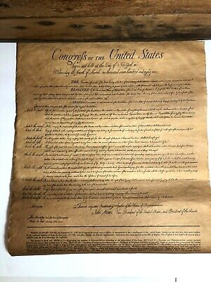 Vintage Congress of the United States 12 Articles of Amendment Constitution USA