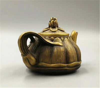 Collection Chinese Brass Lotus Pot kettle Teapot Teakettle