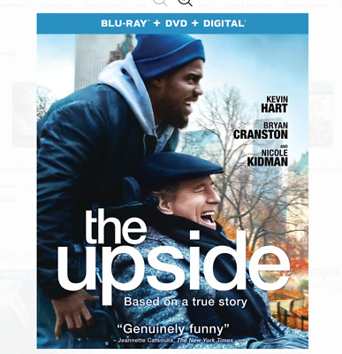 The Upside Blu Ray & DVD 2 Disc Set 2019 Movie Up Side Kevin Hart Comedy Cransto
