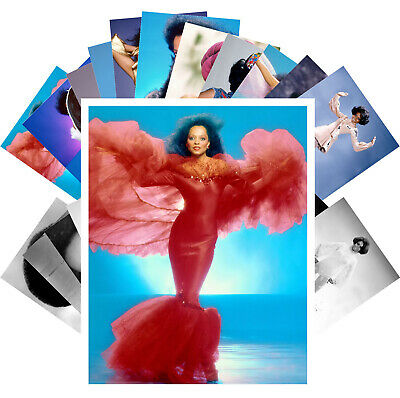 Postcards Pack [24 cards] Diana Ross Disco Pop Music Vintage Posters CC1296
