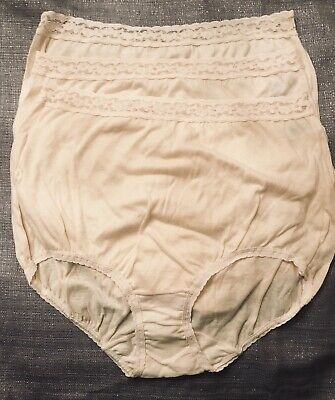 3 Pairs NOS Vintage MAIDENFORM Sz 6 WISE BUYS Full Cut Cotton Brief Panties