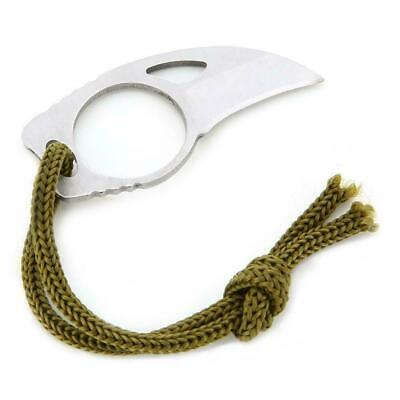 Mini Pocket Finger Paw Self-defence Survival Fishing Neck Knife With Sheath Hot
