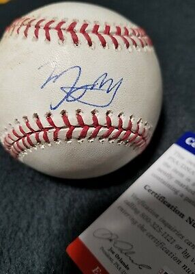 3cfe8412 MANNY MACHADO GAME USED signed autographed Baseball Dodgers 60th Logo  PSA/DNA