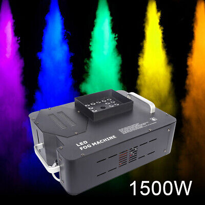 1500W Vertical Spray Fog Smoke Machine RGB Color 24LED or 192 Channels Controlle