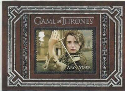 Game Of Thrones Inflexions - Arya Stark Stamp Card S7