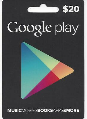 $20 Google Play Gift Card