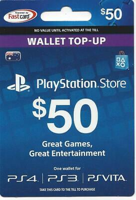 $50 Playstation Store PS Wallet Top-Up Gift Card