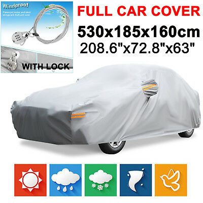 XXL Full Car Cover Cotton Waterproof Anti UV Dust Scratch Resistant Protection