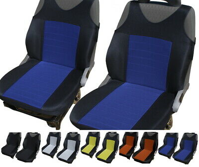2 Blue Car Seat Covers For Subaru Forester Impreza Legacy Outback Wrx