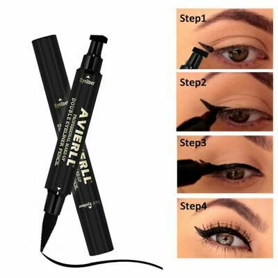 1PC Winged Wing Eyeliner Stamp Black Thin Thick Eye Liquid Waterproof Fashion