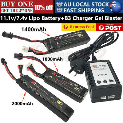 11.1v 7.4v Upgrade Lipo Battery B3 Charger Gel Ball Blaster JinMing Gen8 J8 M4A1
