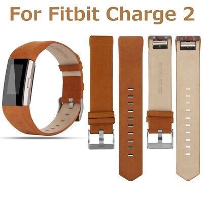 Replacement Genuine Leather Band Retro Brown For Fitbit Charge 2 Strap Wristband