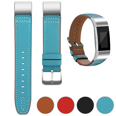 Watch Band Superior Genuine Leather Replacement Wristband U for Fitbit Charge 2