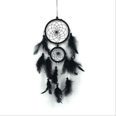 Handmade Dream Catcher with Feathers Wall Hanging Decoration Ornament Gift Black