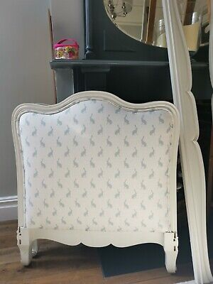 Vintage French upholstered child's bed / day bed
