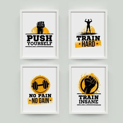 Workout Motivational Fitness Quote Poster Canvas Prints Gym Wall Art Decoration