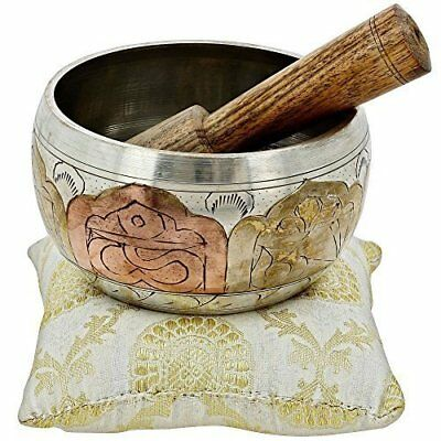 Nirvana-Class Tibetan Singing Bowl Meditation Copper and Silver Buddhist Décor