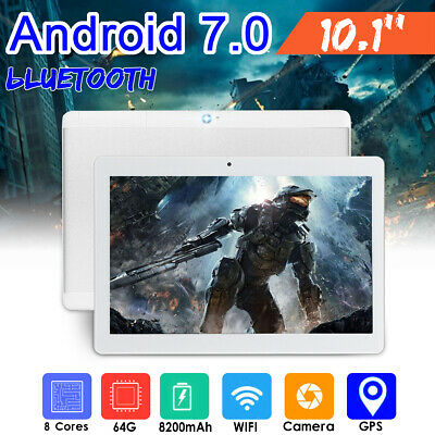 10.1'' 4G+64GB Tablet PC Octa 8 Core Android 2 SIM Camera WIFI HD bluetooth HOT!