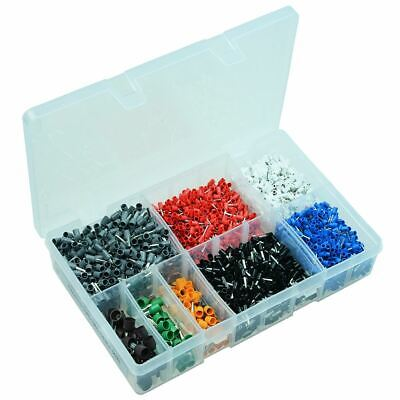 2600pcs French Cord End Bootlace Ferrule Terminal Assortment Kit