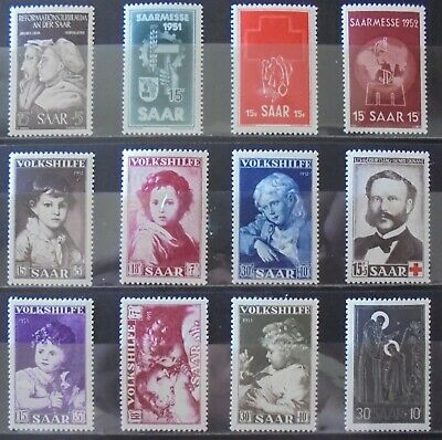 SAAR 1951-53 Complete Issues 12 MNH