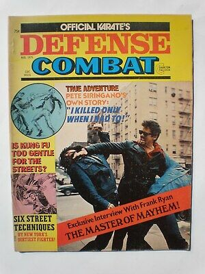 Official Karate's Defense Combat August 1975 Charlton Kung Fu Tae Kwon Do