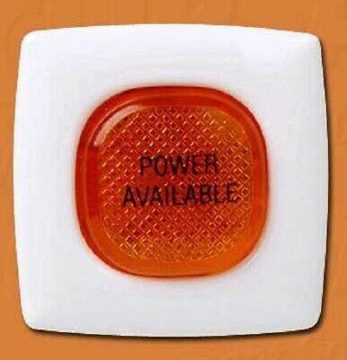 Medilec POWER AVAILABLE FIXED IMPRINTED PLATE 240V With Neon Lamp, Amber